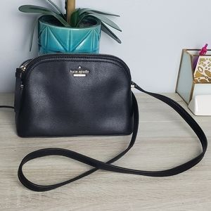 NWOT Kate Spade Black Dome Leather Crossbody